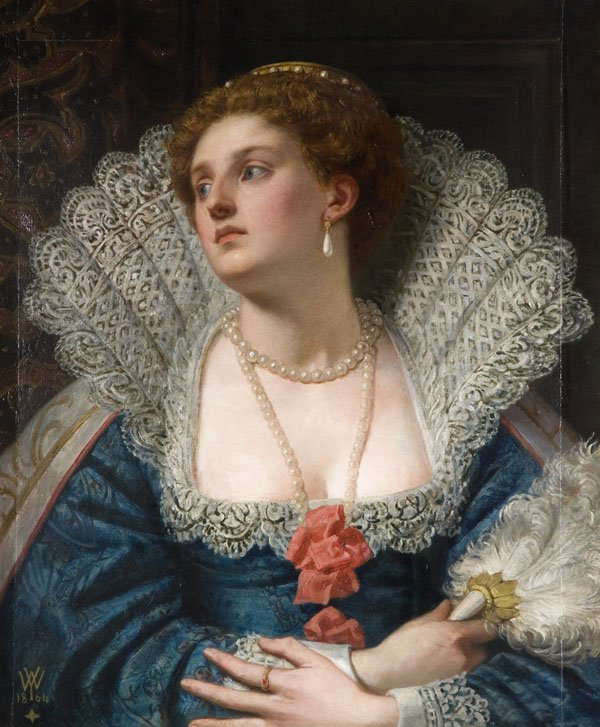 Painting of Amy Robsart by William Frederick Yeames, 1870.