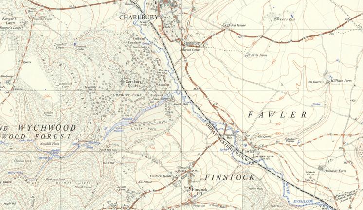 The B4022 Charlbury-Finstock road.
