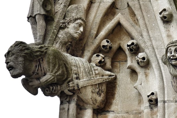 Gargoyles on the tower of University Church of St. Mary the Virgin, Oxford