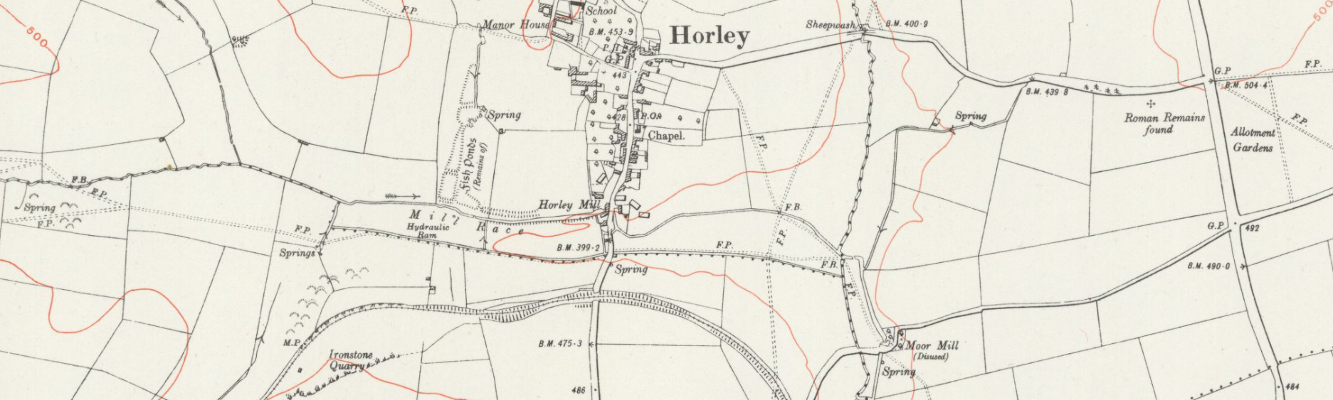 Map of Horley, including Oxfordshire Ironstone Railway