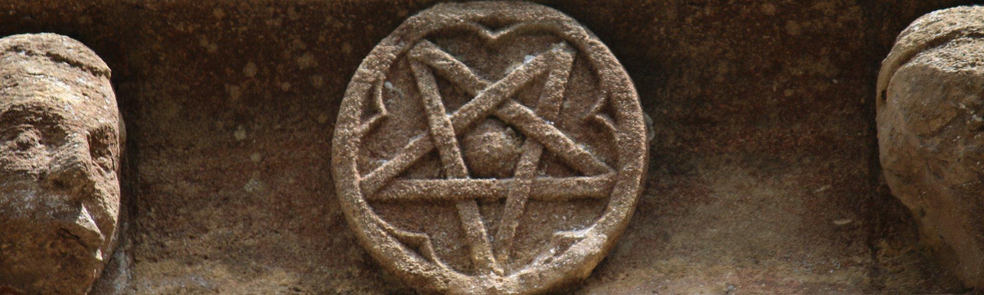 Pentagram carving, Church of St. Mary the Virgin, Adderbury