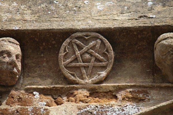 Pentagram at Adderbury Church
