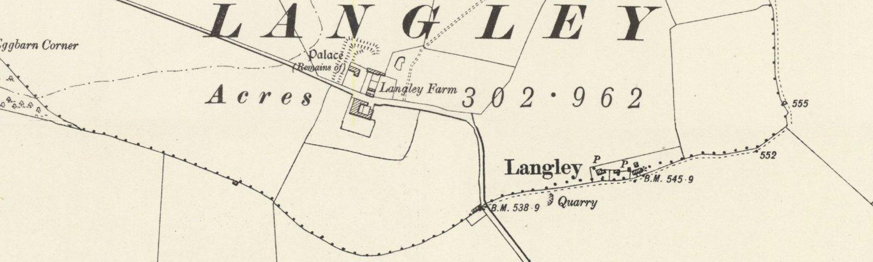 Map of Langley circa 1919.