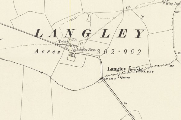 Map of Langley