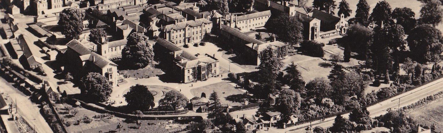 An aerial photograph of Littlemore Hospital.