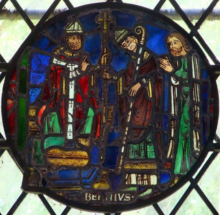 St Birinus stained glass window at Dorchester