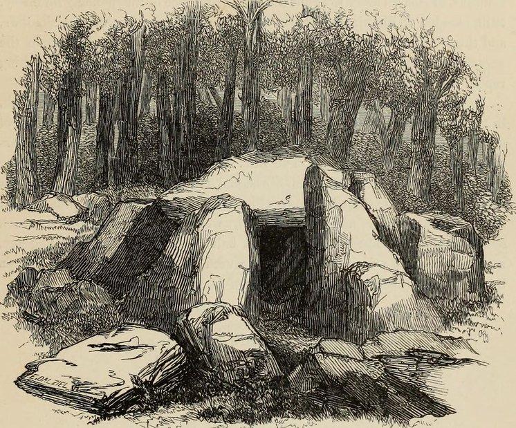 Illustration of Wayland Smithy by Francis Paul Palmer circa 1846.