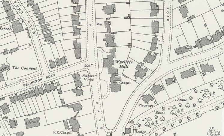 Wycliffe Hall map
