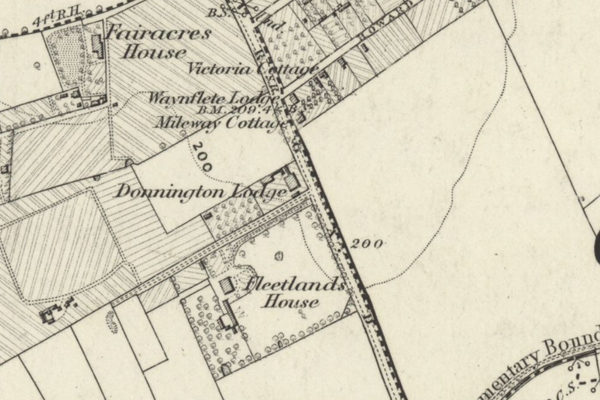 Donnington Bridge Road circa 1876