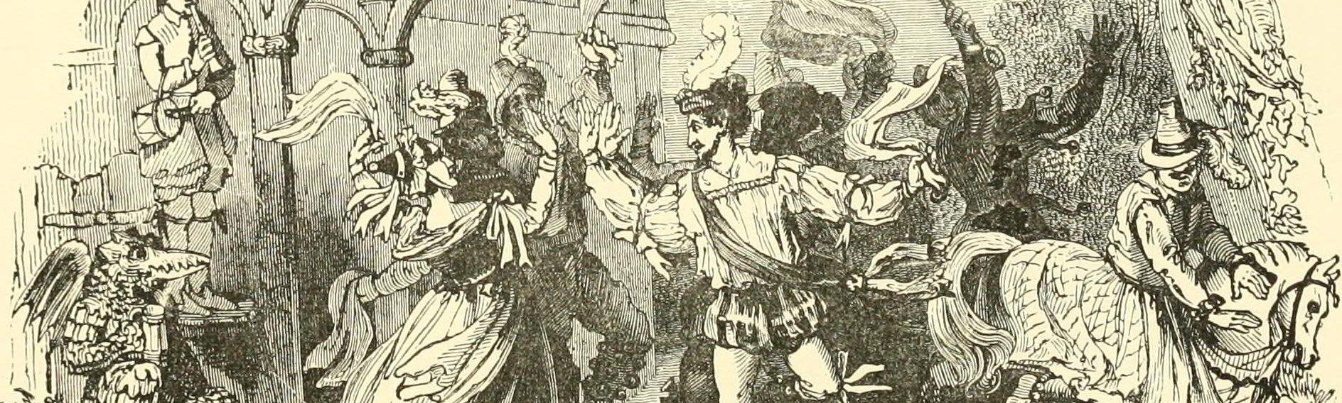 Illustration of a Whitsun Morris Dance, circa 1891.
