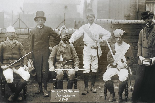 Whitwell Church Lads Brigade mummers, 1914