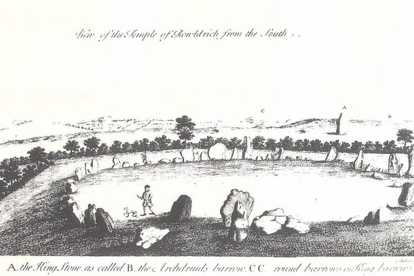 View of the Rollright Stones by William Stukeley (1687 – 1765)
