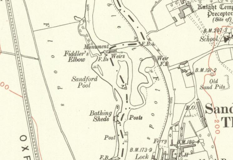Map of Sandford Lasher circa 1910