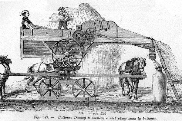 A threshing machine